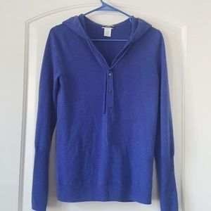SOLD J. Crew hoodie pullover sweater small
